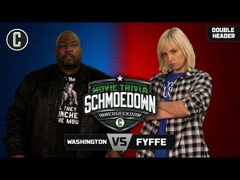 Innergeekdom Match! Fyffe VS Washington + Fyffe VS The Machine - Movie Trivia Schmoedown