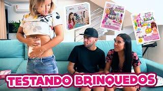 TESTANDO BRINQUEDOS GRINGOS DE MENINAS!!