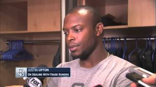 San Diego Padres OF Justin Upton Talks Dealing with Trade Rumors