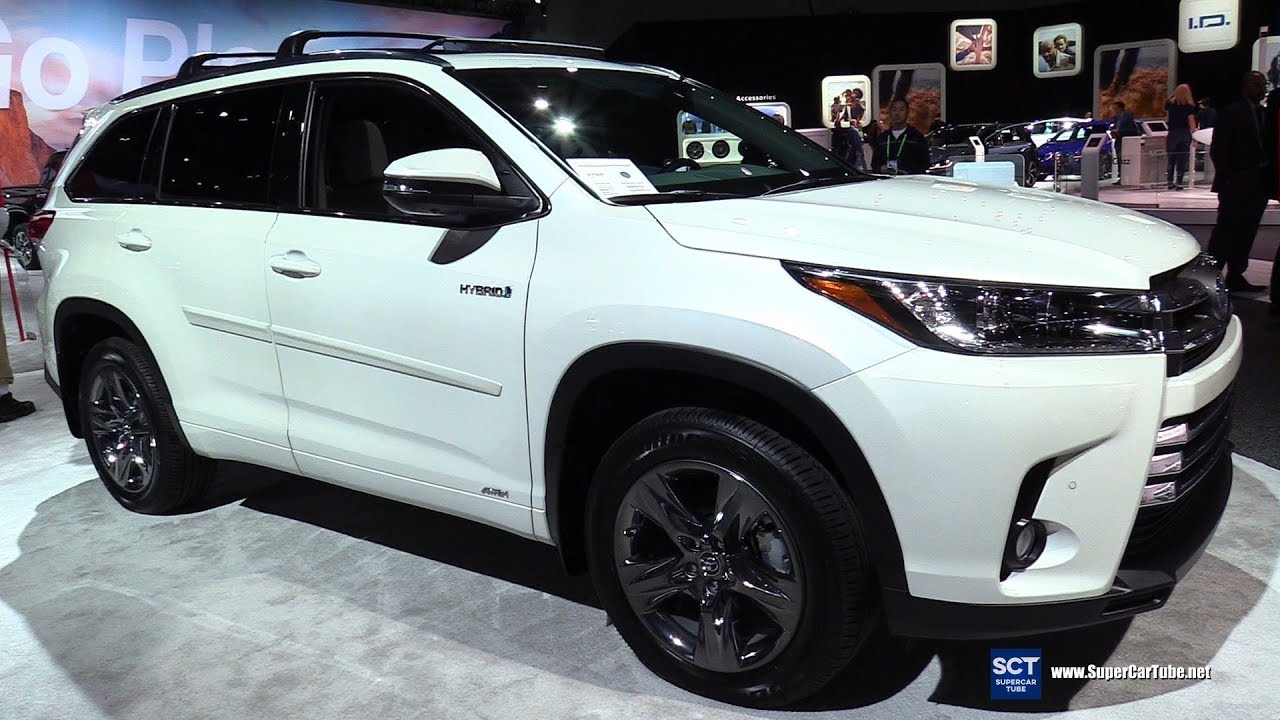 2018 Toyota Highlander Hybrid Exterior And Interior Walkaround 2017 La Auto Show