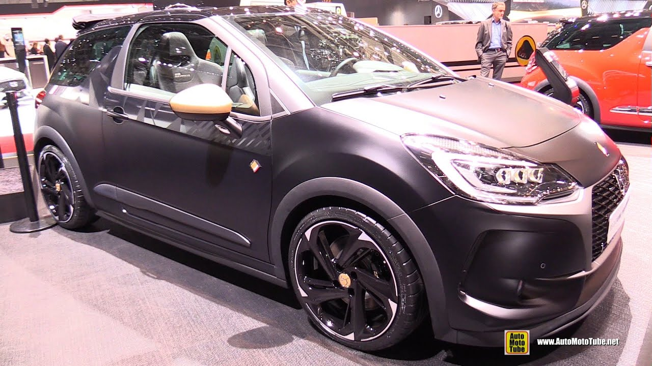 2017 citroen ds3 cabrio performance exterior and interior walkaround 2016 geneva motor show. Black Bedroom Furniture Sets. Home Design Ideas