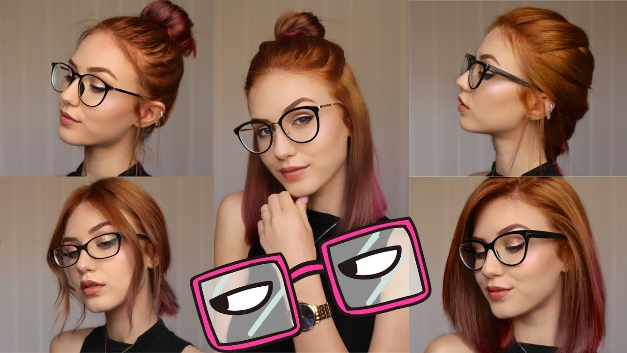 5 Hairstyles For Different Glasses