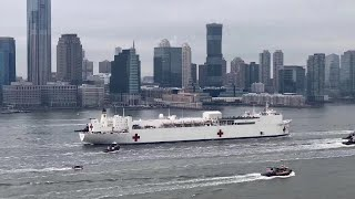 Hospital ship USNS #Comfort has arrived in #NewYorkCity on Monday