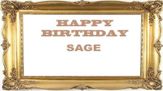 Sage   Birthday Postcards & Postales - Happy Birthday