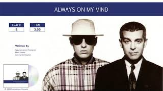 Pet Shop Boys / Discography: Singles Collection / Always On My Mind  (Audio)