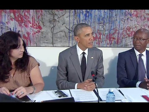 President Obama Meets with Civil Society Leaders in Cuba