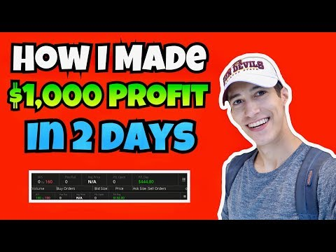How I Made +$1,000 Profit In 2 Days Trading Stocks | Investing 101