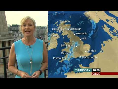 Carol Kirkwood BBC Weather On Roof London 2016 08 25