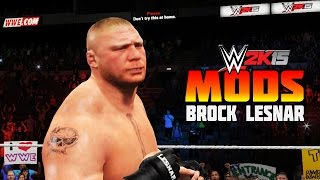 WWE 2K15 PC Mods : Brock Lesnar 2015 Updated Beard & Shorter hair!!