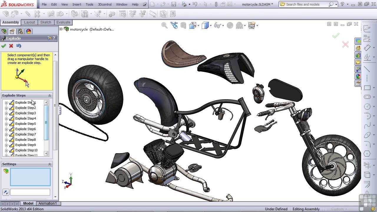 Solidworks 2013 tutorial exploded view youtube for 3d drawing online no download