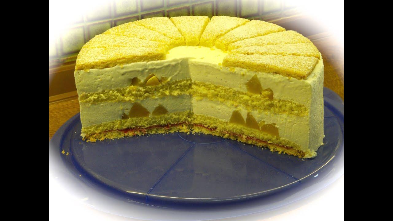 Pfirsich Quarkcreme Torte Youtube