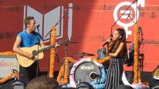 Ariana Grande ft Chris Martin - Just A Little Bit Of Your Heart live Global Citizen Festival 2015