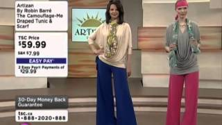 Artizan by Robin Barre The Camouflage-Me Draped Tunic & Scarf on Shopping Channel Thumbnail