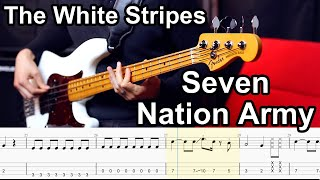 The White Stripes - Seven Nation Army // BASS COVER + Play-Along Tabs