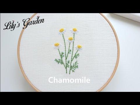 나홀로 프랑스자수 embroidery No.3 카모마일 수놓기 레이지데이지 스티치, 프렌치노트 스티치