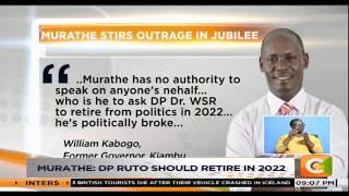 Murathe: DP Ruto should retire in 2022