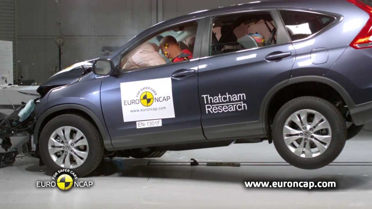 euro ncap honda cr v 2013 crash test youtube. Black Bedroom Furniture Sets. Home Design Ideas