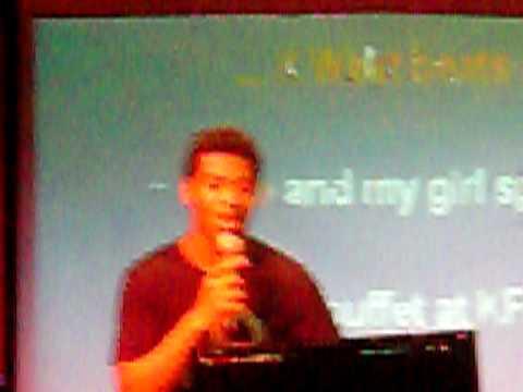 Joshua Haley singing on Cruise