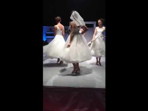 1950s Marilyn Monroe Style Tea Length Wedding Dress -Jane