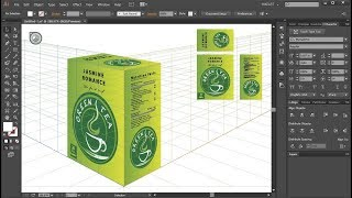 How to Apply Flat Graphics to the Perspective Grid  in Adobe Illustrator