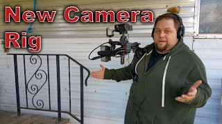 my new budget camera rig with my canon vixia hf r500 camcorder