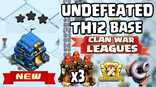 New TH12 WAR Base with 3 INFERNO TOWERS and TORNADO TRAP | Clash of Clans update Town Hall 12 Base