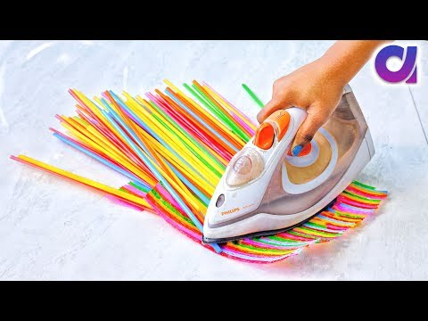 10 Super Cool drinking straws Crafts ideas | Best out of waste | Artkala 405