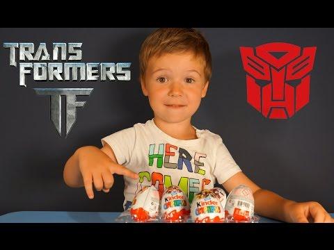 Киндер Сюрприз Трансформеры 4 на русском языке. Игрушки Трансформеры. Kinder Surprise Transformers