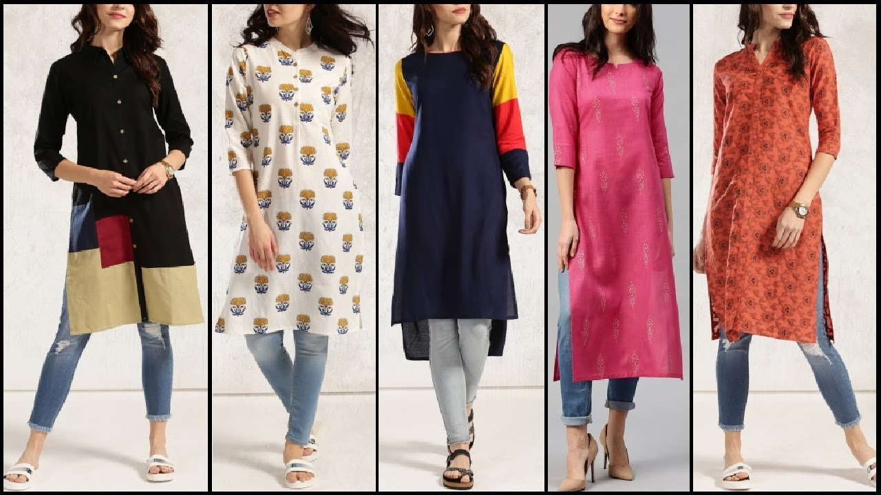 Everyday Stylish Kurta / kurti / with jeans | Trendy Outfits For college Girls | College outfits ...