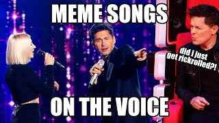 MEME Songs on The Voice | Top 10