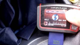 Car Mp4 Player FM Transmitter Test Auto Radio SD USB Wireless LCD