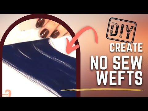 How To Make No Sew Wefts - DoctoredLocks.com