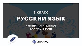 Русский язык | 3 класс | Имя прилагательное как часть речи | Урок 18 | Знанио