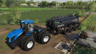 Oberkrebach #3 | Farming Simulator 19 Timelapse | Cow Slurry, Planting,Animal Care |FS19 Timelapse