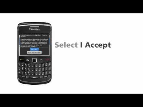 BlackBerry Bold 9780 E-mail Setup guide