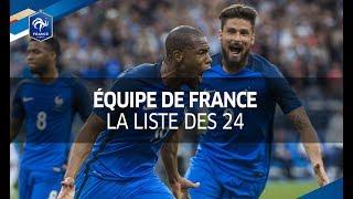La liste des 24 Bleus pour France - Pays Bas et France - Luxembourg
