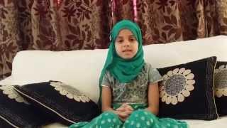a speech by 7 year old maryam masud laam