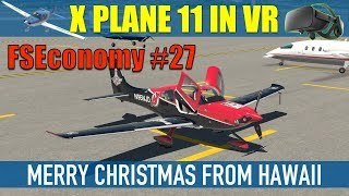 X Plane 11 VR FSEconomy #27 Merry Christmas From Hawaii SR20 NJ Devils Livery