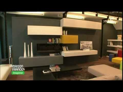 lago paris les meubles modulaires la maison france 5 youtube. Black Bedroom Furniture Sets. Home Design Ideas