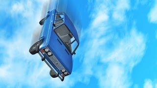 Возможно ли выжить при падении автомобиля с высоты? - BeamNG Drive