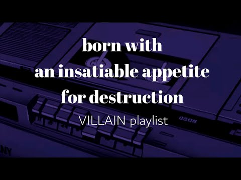 born with an insatiable appetite for destruction // villain as a main character  – the fourquel