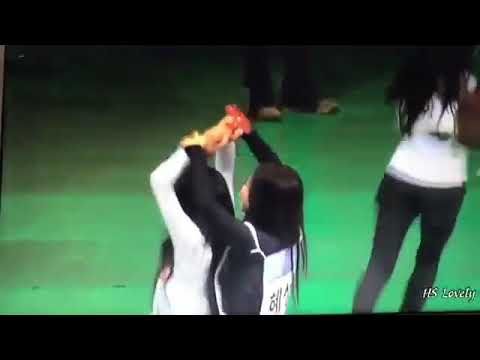 Elris Hyeseong, H. U. B Rui, Momoland Daisy at ISAC 2018; CREDIT TO HS LOVELY ON TWITTER