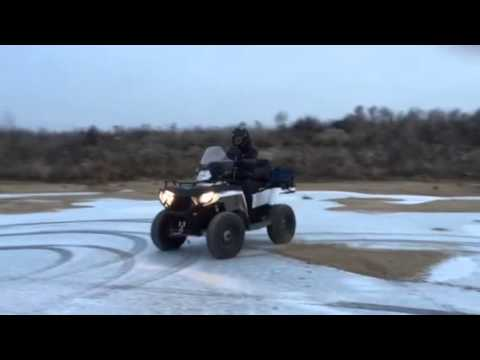 Дрифт на квадроцикле Polaris Sportsman 570 EFI Touring