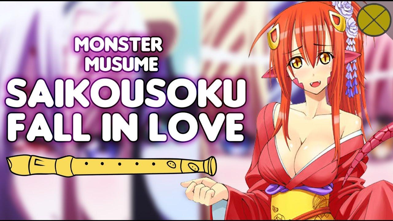 Monster Musume opening(flauta dulce) - Saikousoku Fall in ...
