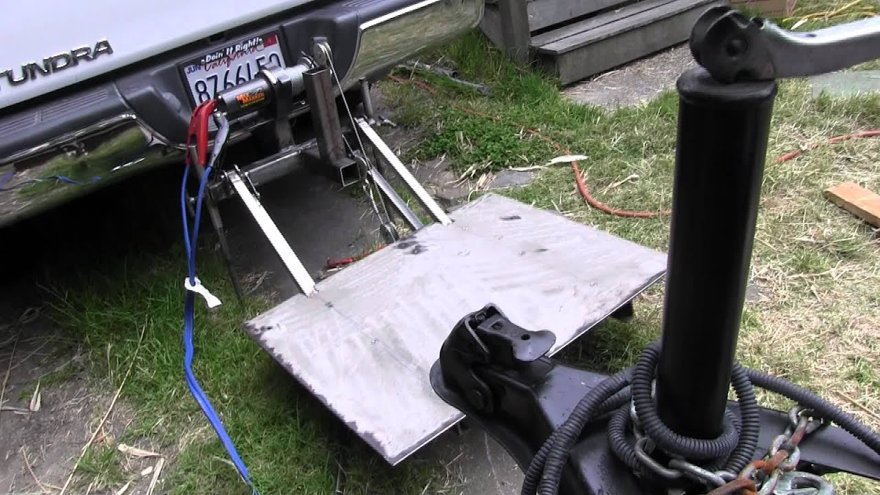 Homemade Lift Lever For Gate : Hitch lift youtube