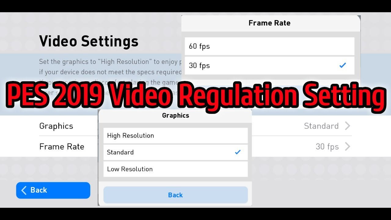 PES 2019 Video Setting  Graphic and Frame Rate Setting  Save Your  Data।Multi Talent RR