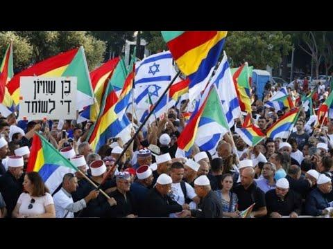 الدروز يتظاهرون وسط تل أبيب احتجاجا على قانون -الدولة القومية-  - 10:23-2018 / 8 / 6