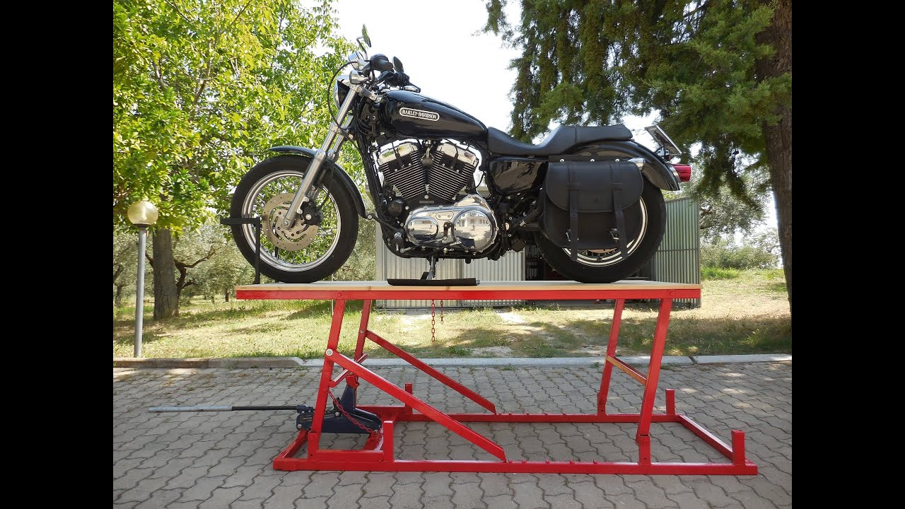 ponte alzamoto fai da te homemade motorcycle lift table