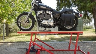ponte alzamoto fai da te (homemade motorcycle lift table)