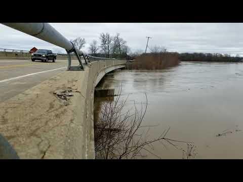 Flint River rises in flooding rural Saginaw County